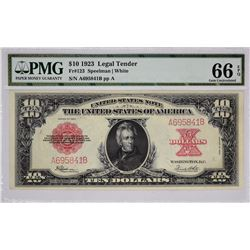 Fr. 123. 1923 Legal Tender. PMG Gem Uncirculated 66 EPQ.