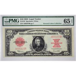 Fr. 123. 1923 $10 Legal Tender. PMG Gem Uncirculated 65 EPQ.
