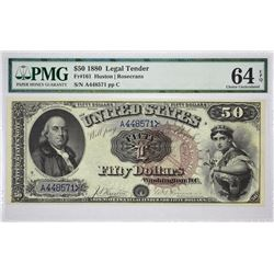 Fr. 161. 1880 $50 Legal Tender. PMG Choice Uncirculated 64 EPQ.