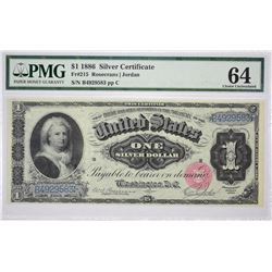 Fr. 215. 1886 $1 Silver Certificate. PMG Choice Uncirculated 64.