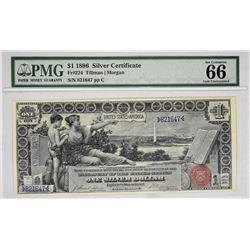 Fr. 224. 1896 $1 Silver Certificate. PMG Gem Uncirculated 66 EPQ.