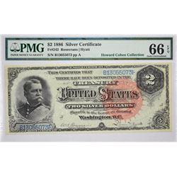 Fr. 242. 1886 $2 Silver Certificate. PMG Gem Uncirculated 66 EPQ.