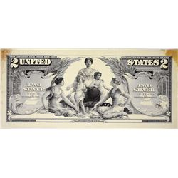 1896 $2 silver Certificate. Hessler SCE 185 FD. Face Progressive Essay Proof. About Uncirculated.