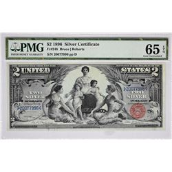 Fr. 248. 1896 $2 Silver Certificate. PMG Gem Uncirculated 65 EPQ.