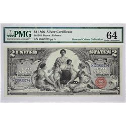 Fr. 248. 1896 $2 Silver Certificate. PMG Choice Uncirculated 64.