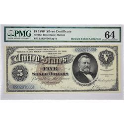 Fr. 263. 1886 $5 Silver Certificate. PMG Choice Uncirculated 64.