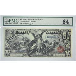 Fr. 269. 1896 $5 Silver Certificate.  PMG Choice Uncirculated 64.