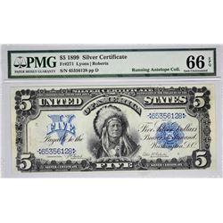 Fr. 271. 1899 $5 Silver Certificate. PMG Gem Uncirculated 66 EPQ.
