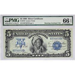 Fr. 272. 1899 $5 Silver Certificate. PMG Gem Uncirculated 66 EPQ.