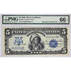 Fr. 273. 1899 $5 Silver Certificate. PMG Gem Uncirculated 66 EPQ.
