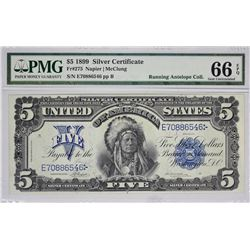 Fr. 275. 1899 $5 Silver Certificate. PMG Gem Uncirculated 66 EPQ.