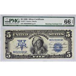 Fr. 277. 1899 $5 Silver Certificate. PMG Gem Uncirculated 66 EPQ.