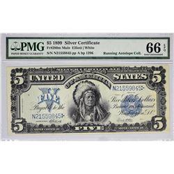Fr. 280m. 1899 $5 Silver Certificate. PMG Gem Uncirculated 66 EPQ.