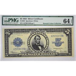 Fr. 282. 1923 $5 Silver Certificate. PMG Choice Uncirculated 64 EPQ.