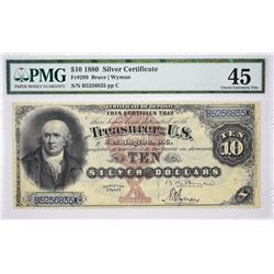 Fr. 289. 1880 $10 Silver Certificate. PMG Choice Extremely Fine 45.