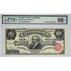 Fr. 300. 1891 $10 Silver Certificate. PMG Gem Uncirculated 66 EPQ.
