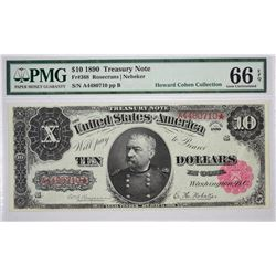 Fr. 368. 1890 $10 Treasury Note. PMG Gem Uncirculated 66 EPQ.