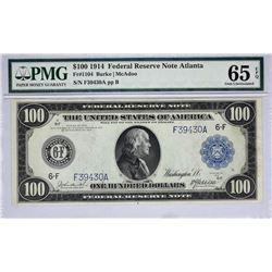 Fr. 1104. 1914 $100 Federal Reserve Note. Atlanta. PMG Gem Uncirculated 65 EPQ.