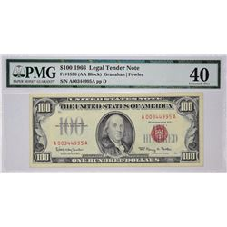 Fr. 1550. 1966 $100 Legal Tender. PMG Extremely Fine 40.