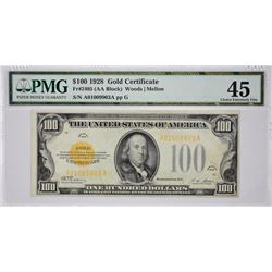 Fr. 2405. 1928 $100 Gold Certificate. PMG Choice Extremely Fine 45.