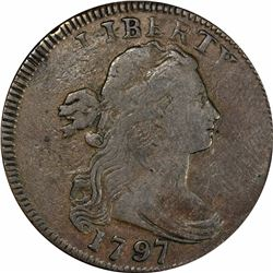 1797 S-121b. Gripped Edge. Rarity-3-. Fine-15 PCGS.