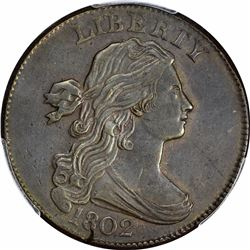 1802 S-227. Rarity-2. Genuine – Cleaning -- AU Details PCGS.