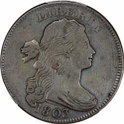 1803 S-252. Small Date, Small Fraction. Rarity-2. VF-30 PCGS.