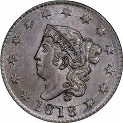 1818 N-10. Rarity-1. MS-64 BN NGC.