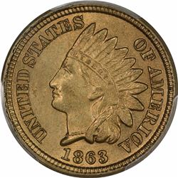 1863 MS-63 PCGS. Copper Nickel.