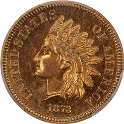 1873 Close 3. Proof-63 RB PCGS. Bronze Cent.