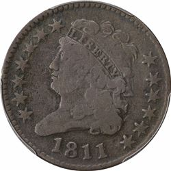 1795 Flowing Hair. LM-10. Rarity-3. Genuine – Bent – Fine Details PCGS.
