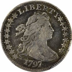 1797 JR-1. 15 Stars. Rarity-4. Genuine – Tooled -- Fine Details PCGS.