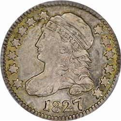 1827 JR-12. Rarity-1. EF-45 PCGS.
