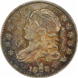1828 JR-1. Small Date. Rarity-2. AU-58 PCGS.