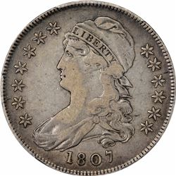 1807 Capped Bust. O-113. Small Stars. Rarity-2. VF-30 PCGS.