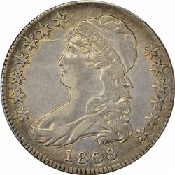 1808 O-106. Rarity-3. Genuine – Cleaning – EF Details PCGS.