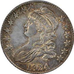 1824 O-105. Rarity-2. Genuine – Cleaning – AU Details PCGS.