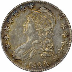 1824/4 O-109. Rarity-2. Genuine – Cleaning – AU Details PCGS.