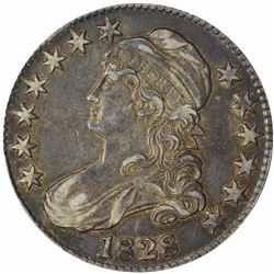 1828 O-122. Square Base 2, Small 8s, Large Letters. Rarity-3. EF-45 PCGS.
