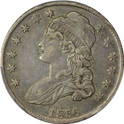 1836 O-116. 50 Over 00. Rarity-2. EF-40 PCGS.