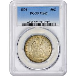 1876 WB-103. Errant 6 in Dentils. MS-62 PCGS.