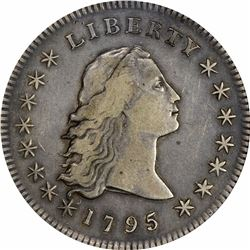 1795 Flowing Hair. BB-20, B-2. 2 Leaves. Rarity-4. VF-35 PCGS.
