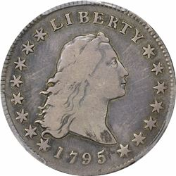 1795 Flowing Hair. BB-24, B-13. 2 Leaves. Rarity-5. Fine-15 PCGS.