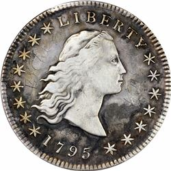 1795 Flowing Hair. BB-27, B-5. 3 Leaves. Rarity-1. Genuine – Graffiti – VF Details PCGS.