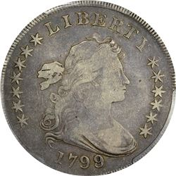 1799/8 BB-143, B-2. Rarity-3. Genuine – Bent – Fine Details PCGS.
