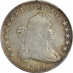 1799 BB-159, B-23. Stars 8X5. Rarity-2. Genuine – Cleaning – VF Details PCGS.