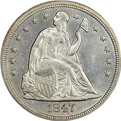 1847 MS-61 PCGS.