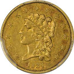 1834 Classic Head. AU-50 PCGS.