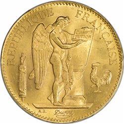 France. Republic. 1886-A Gold 100 Francs. Paris Mint. Gadoury-1137. MS-63 PCGS.