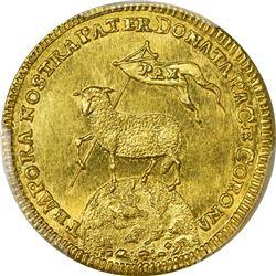 German States. Nurnberg. 1700 Gold Ducat. KM-257. MS-63 PCGS.